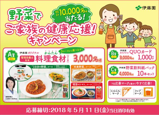 伊藤園 野菜でご家族の健康応援!キャンペーン